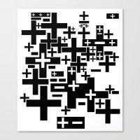 PLUS/MINUS Canvas Print