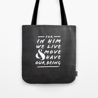 Live and Move Tote Bag