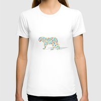 Technicolor Jaguar Womens Fitted Tee White SMALL