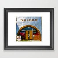 Thai Massage Framed Art Print