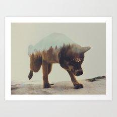 Akiak The Husky Art Print