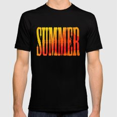 Summer Heat  SMALL Mens Fitted Tee Black