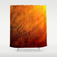 The burning world Shower Curtain