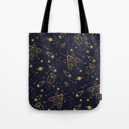 Tote Bag - Golden Celestial Bugs  - Carly Watts