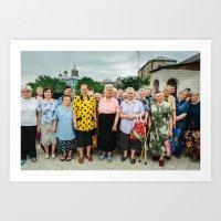 Babushki (Grandmothers) in Moldova Art Print