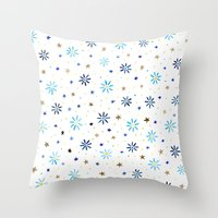 Watercolour Daisies & St… Throw Pillow