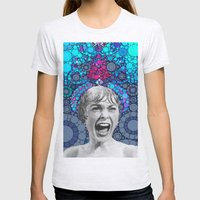 Psycho Design  Womens Fitted Tee Ash Grey SMALL