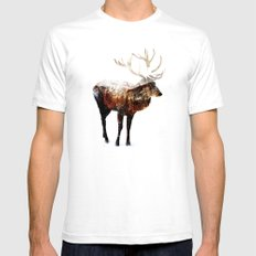 Arctic Deer Mens Fitted Tee SMALL White