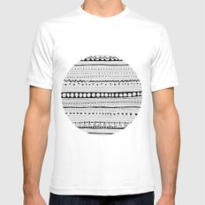 Pattern #1 Mens Fitted Tee White SMALL