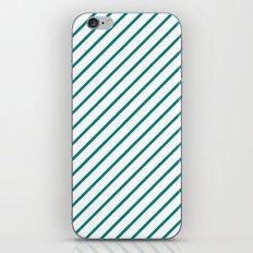 Diagonal Lines (Teal/White) iPhone & iPod Skin