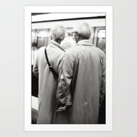 Older Couple Holding Han… Art Print
