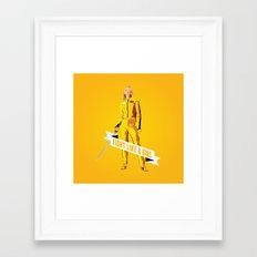 Fight Like a Girl: Beatrix Kiddo Framed Art Print