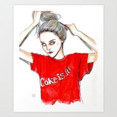 coke is it / sky  f Art Print