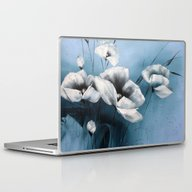 Laptop & iPad Skin featuring White On Blue by ZAcheR-fineT