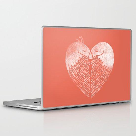 Love birds sitting on a tree Laptop & iPad Skin
