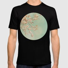 Cherry Blossoms Mens Fitted Tee Black SMALL