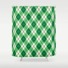 Irish Argyle Shower Curtain