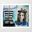 Too Big, Alice Art Print