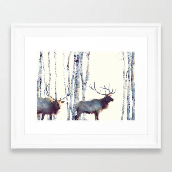 Elk // Follow Framed Art Print