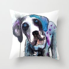 Great Dane Drip Picture Throw Pillow