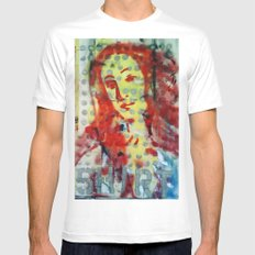 VENUS IN DOTS AND SHIRT SMALL White Mens Fitted Tee