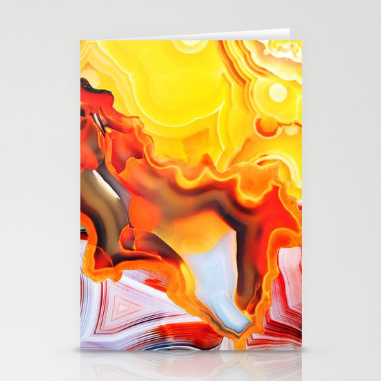 Earth's Fantasy, from the Lithosphere emerges Beauty - Agate Stationery Card