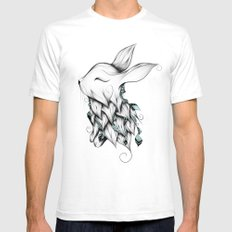 Poetic Rabbit Mens Fitted Tee White SMALL