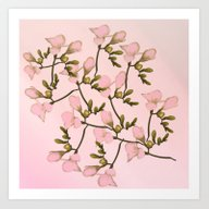 Painterly Pretty Pink Fl… Art Print