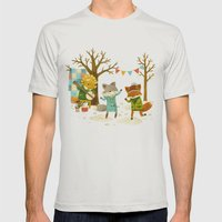 Critters: Spring Dancing Mens Fitted Tee Silver SMALL
