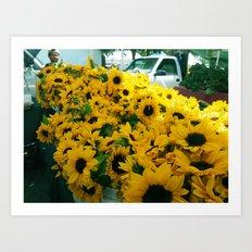 Farmer's Market Flowers Art Print