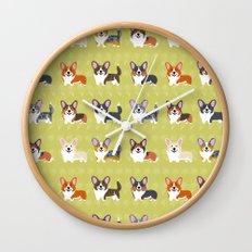 Pembrokes and Cardigans - CORGIS Wall Clock