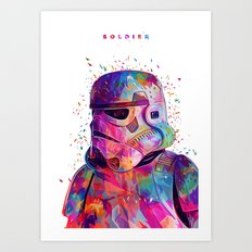 Soldier White Art Print