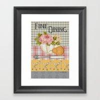 Fine Dining Framed Art Print
