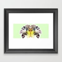 Insecte Eventail Summer … Framed Art Print