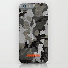 Modern Woodgrain Camouflage / Winter Birch Woodland Print Slim Case iPhone 6s