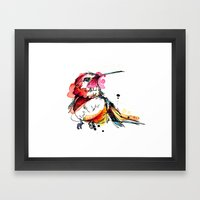 Crimson Hummer Framed Art Print