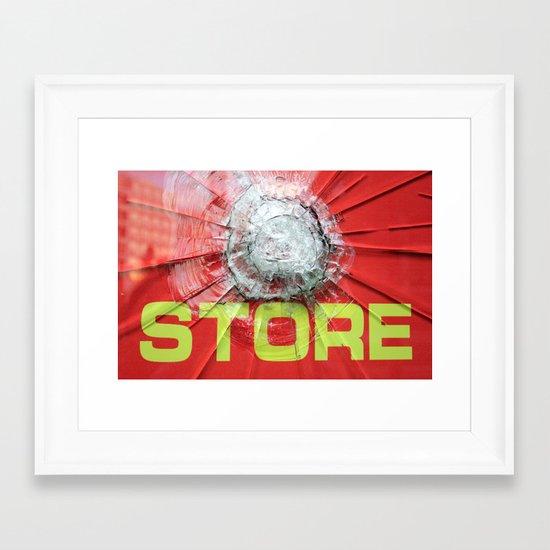 re-store Framed Art Print