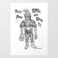 GMO-kenstein Art Print