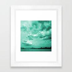 Teal Sky Framed Art Print
