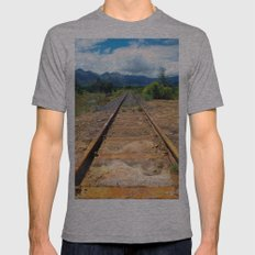 Old Track 2 Mens Fitted Tee Athletic Grey SMALL