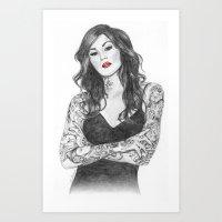 Kat Von D Red Lips Art Print
