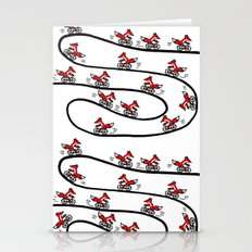 Fox On Bicycle Stationery Cards