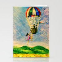 BALLOON LOVE: Flying Awa… Stationery Cards