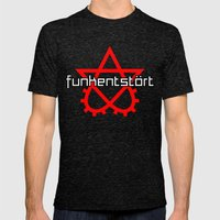 Funkentstort Scrotogram Mens Fitted Tee Tri-Black SMALL