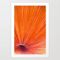 Orange and Red Art Print