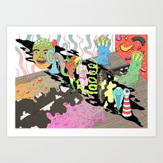 naked lunch Art Print