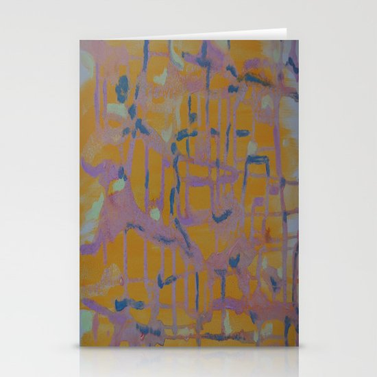Pastel Map Stationery Card