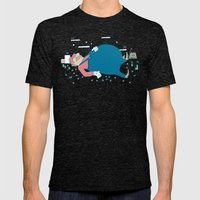 Too Many Mushrooms Mens Fitted Tee Tri-Black SMALL