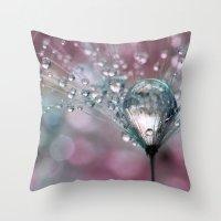 Rasberry Sparkles Throw Pillow