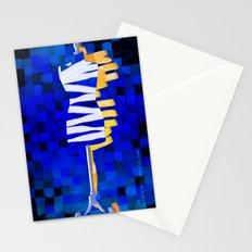 Dummy Run #1, blue  Stationery Cards